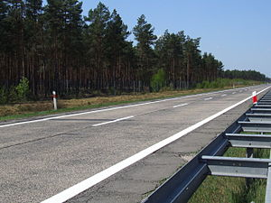 A18 autostrada (Poland) - Reichsautobahn from 1930s (south carriageway)