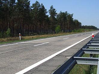 A18 autostrada (Poland) - Reichsautobahn from 1930s (south carriageway)