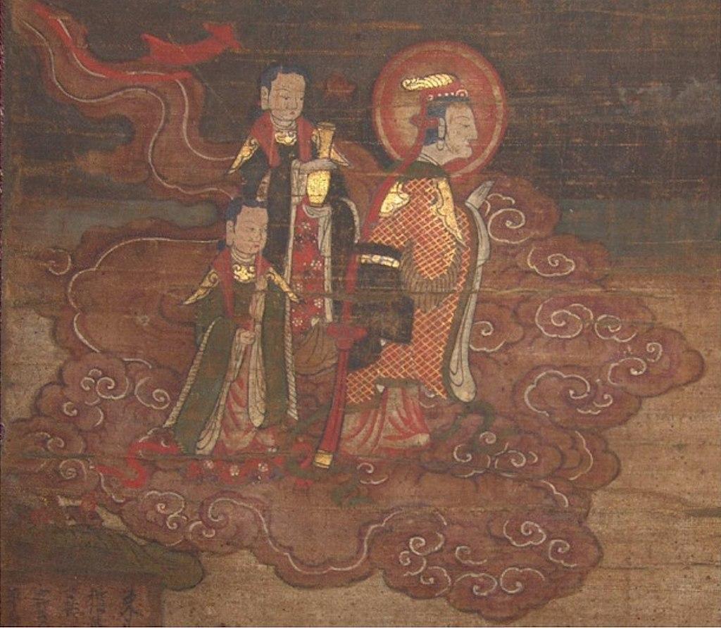 Daênâ with Her Attendants (Manichaean Sermon)