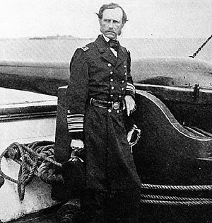 "Battle of Tulifinny - Rear Admiral John A. Dahlgren, ""The Father of Naval Ordnance"" who commanded the Union Navy vessels involved in the Battle of Tulifinny"