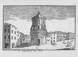 San Sebastiano (Milan) - Engraving (1745) by Marc'Antonio Dal Re
