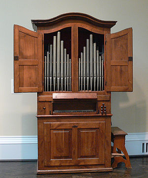 Organ (music) - Chamber organ by Pascoal Caetano Oldovini (1762).