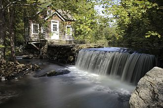 National Register of Historic Places listings in Fairfield County, Connecticut - Image: Dam at gristmill site