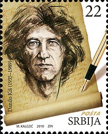 Danilo Kiš on a 2010 Serbia stamp