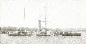 Danish ironclad Gorm - Image: Danish Ironclad Gorm (1870)