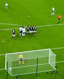 fa6d69cba Beckham lining up a free kick for England in June 2008