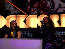 David Guetta and Kelly Rowland Live - Orange Rockcorps London 2009.jpg
