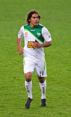 David Williams (footballer, born 1988) - Williams playing with North Queensland Fury in 2009