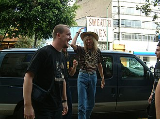 Davy Mickers - Davy Mickers and Arjen Anthony Lucassen during a signing session in Mexico City, 13 October 2006.