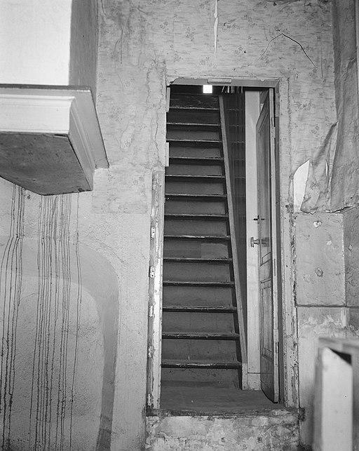 De trap naar het achterhuis van Anne Frank