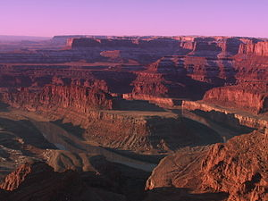 Dead Horse Point State Park - View of the Colorado River and Canyonlands National Park from Dead Horse Point