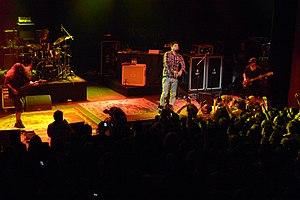 Deftones - Deftones in 2011 at the Shepherd's Bush Empire. Shown from left to right: Carpenter, Cunningham, Moreno and Vega.