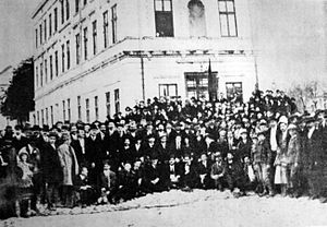 League of Communists of Yugoslavia - Delegates of the First Congress of the Socialist Labor Party of Yugoslavia (Communists), Belgrade 1919.