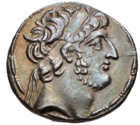 Demetrius III's portrait on a tetradrachm