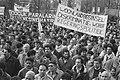 Demonstratie in Amsterdam tegen woonlandbeginsel in de kinderbijslag, Bestanddeelnr 934-2188.jpg