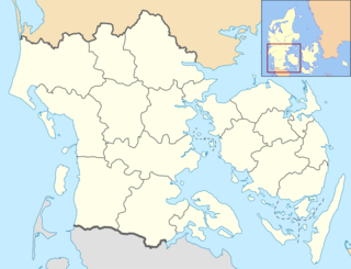 Gelsted Town in Southern Denmark, Denmark