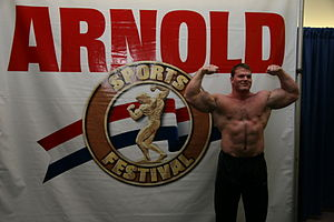 Derek Poundstone during Arnold Strongman Class...