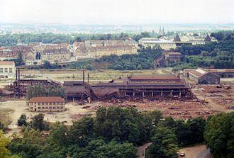 Compagnie des forges et aciéries de la marine et d'Homécourt - Destruction of the factories in 1985