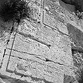 Detail van de klaagmuur met Hebreeuwse tekst, Bestanddeelnr 255-5392.jpg