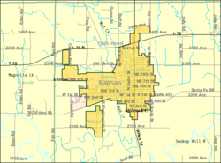 Detailed map of Abilene, Kansas
