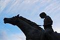 Detall del monument a l'entrada de bous i cavalls de Sogorb.JPG
