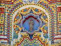 Detalle de la fachada del Templo de San Francisco Acatepec, Puebla, Pue..JPG
