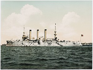 USS Brooklyn (ACR-3) - Colorized photo of Brooklyn