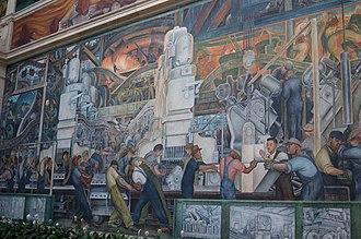 Social justice art - Diego Rivera - Detroit Industry Murals