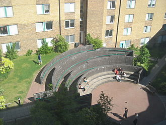 SOAS, University of London - The courtyard of Dinwiddy House