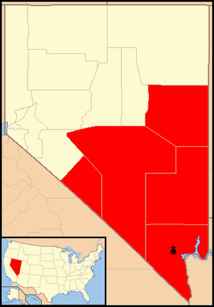 Roman Catholic Diocese of Las Vegas - Image: Diocese of Las Vegas map 1
