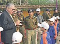 Director General, Central Reserve Police Force, Shri J.K. Sinha interacting with the Kashmiri Children who are on a study tour in New Delhi on February 19, 2006.jpg
