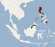 Distribution of Kerivoula whiteheadi.png