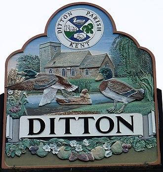 Ditton, Kent - Ditton village sign