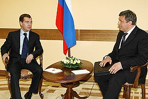 Igor Albin - President of Russia Dmitry Medvedev and Igor Slyunyayev