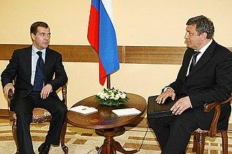 Igor Albin - President of Russia Dmitry Medvedev and Igor Slyunyayev