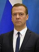Party leader Dmitry Medvedev