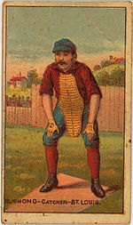 Doc Bushong, catcher, St. Louis Browns, 1887.jpg