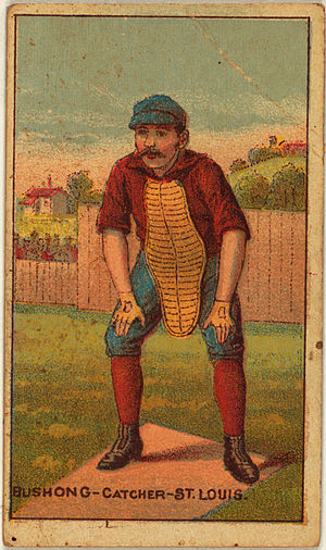 Doc Bushong - Doc Bushong on an 1887 baseball card.