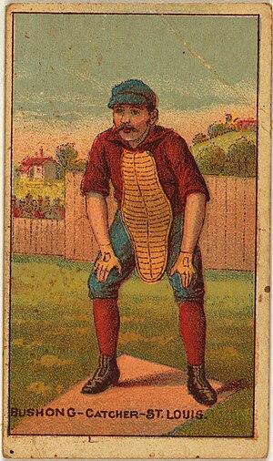 Doc Bushong - Doc Bushong on an 1887 baseball card.