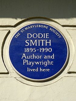 Dodie smith 1895 1990 author and playwright lived here