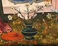 Domenico di michelino (attr.), madonna in trono tra santi, xv secolo, da s. girolamo a volterra 04 vaso di fiori.jpg