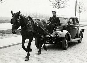 Energy crisis - The gasoline shortages of World War II brought about the resurgence of horse-and-wagon delivery.