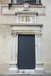 Doorway with relief - Museo Diocesano (Genoa) - DSC01298.JPG