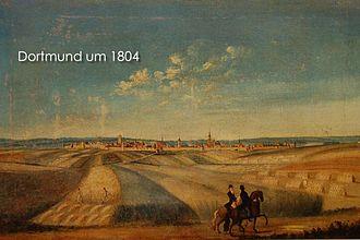 Dortmund - Pre-industrial Dortmund in 1804.