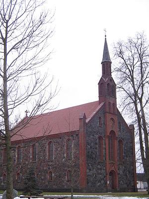 Dovilai - Image: Dovilų evangelikų liuteronų bažnyčia