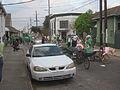 Downtown Irish Parade 2013 Piety Ersta Bikes.JPG