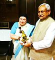 Dr. jeanne pere mummy jee with nitish kumar.jpg