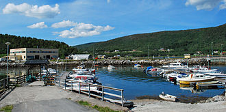 Drag, Norway - View of the village harbor