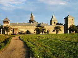 Dragomirna monastery sunset.jpg