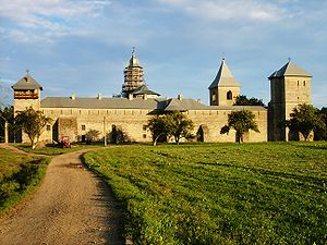 The monastery of Dragomirna in Romania